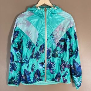Puma tropical pattern hood windbreaker